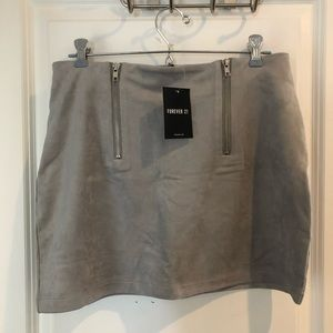 Forever 21 Gray Suede Mini Skirt